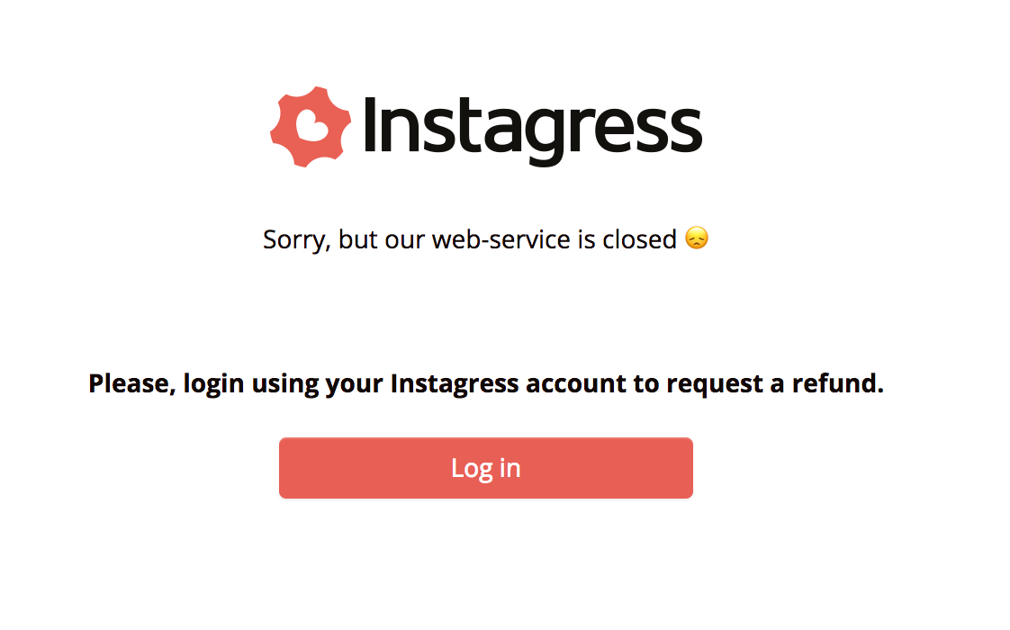 Instagress Shut Down