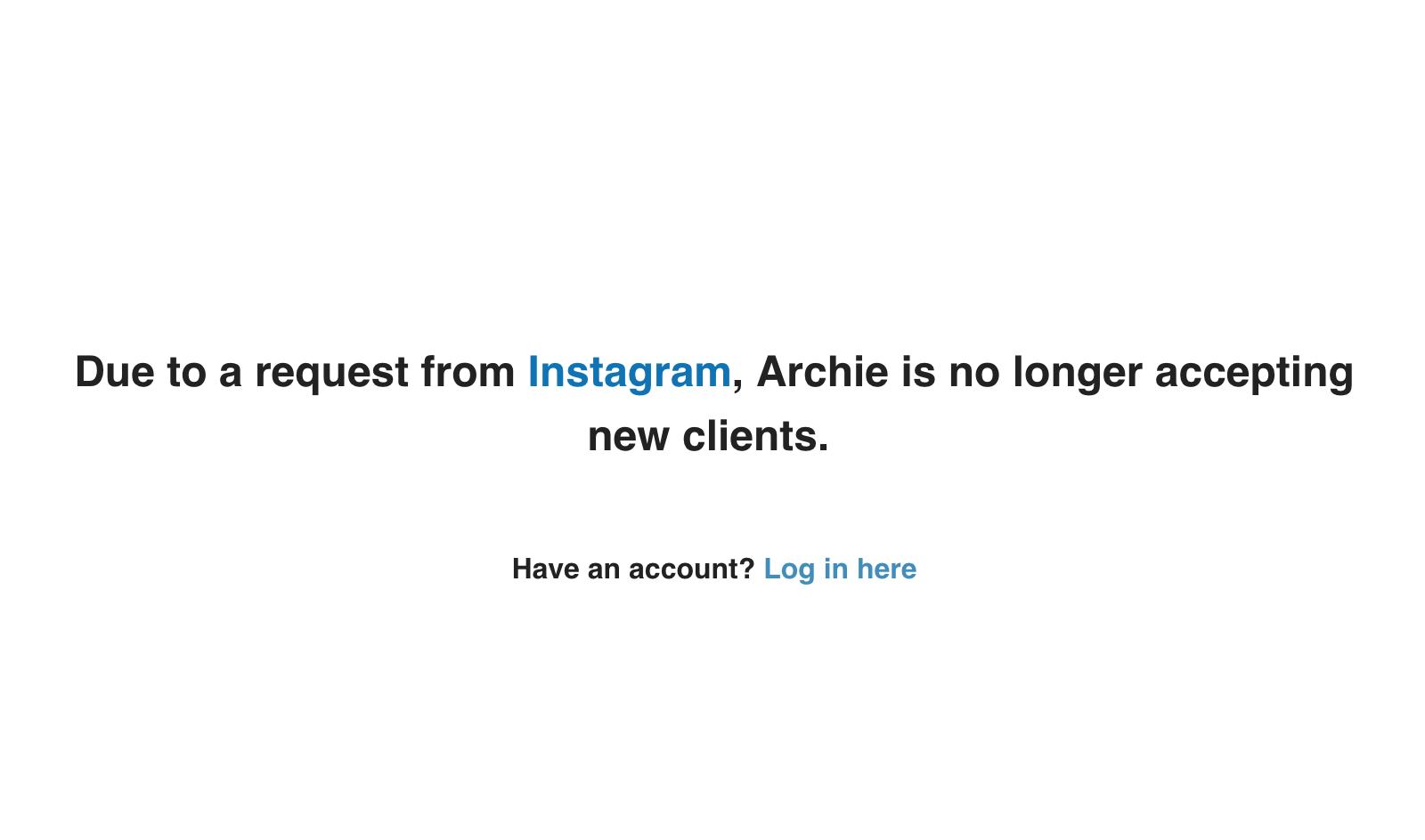 archie shut down