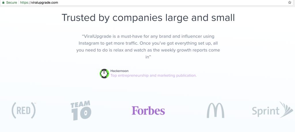 ViralUpgrade False Endorsements