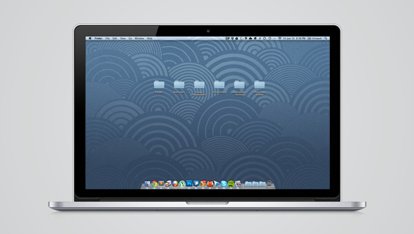 Vectorized Apple Retina MacBook Pro