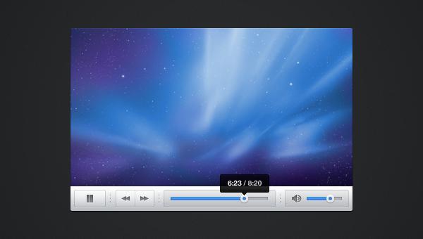 Snappy Light Video Player Skin