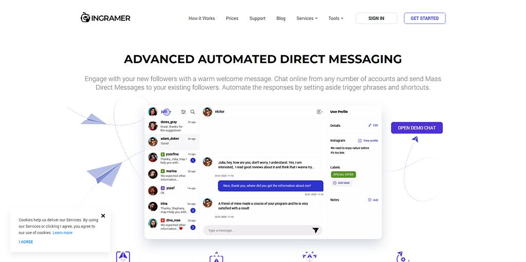 Ingramer - Direct Messaging