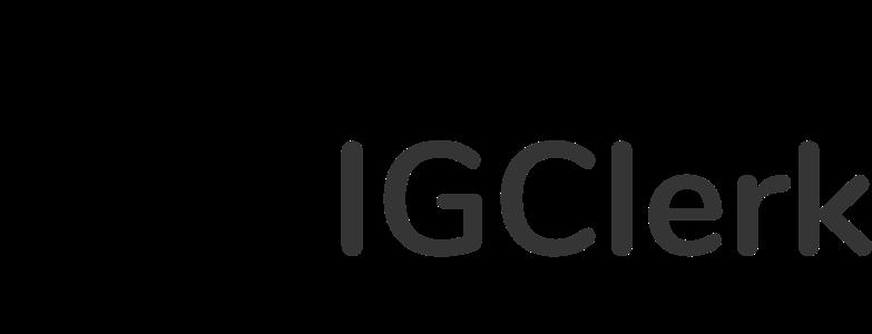 IG Clerk logo dark