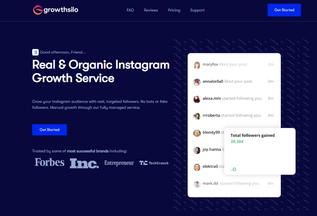 Growthsilo - buy instagram followers