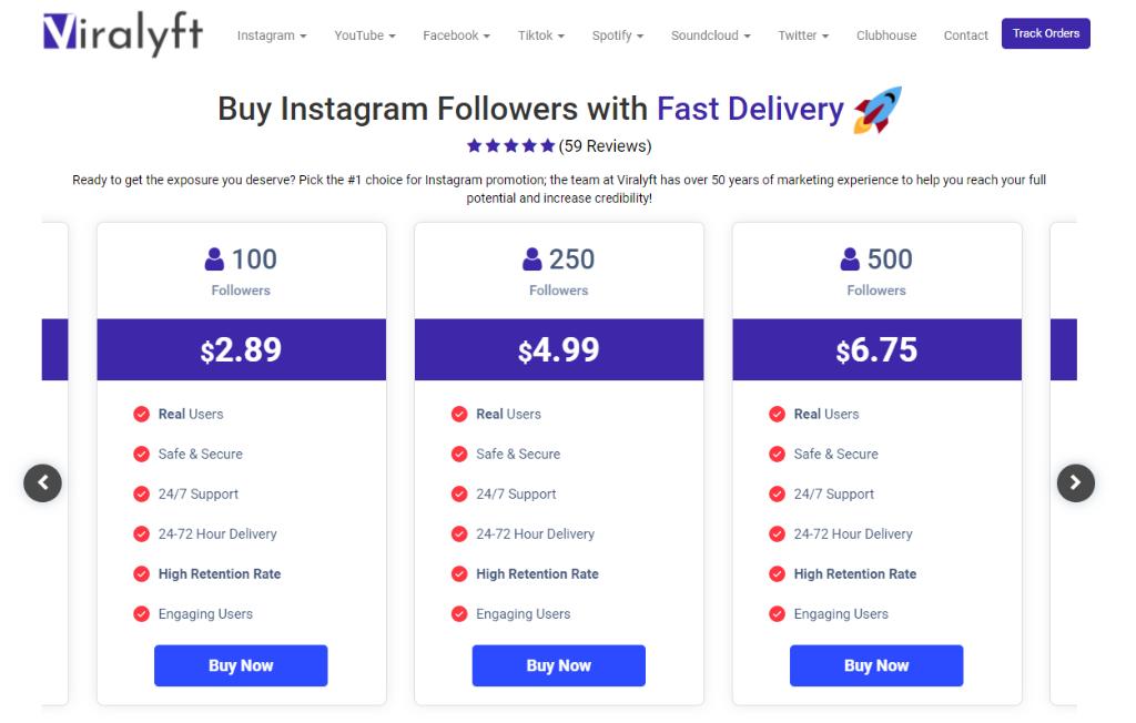 Viralyft Instagram Followers