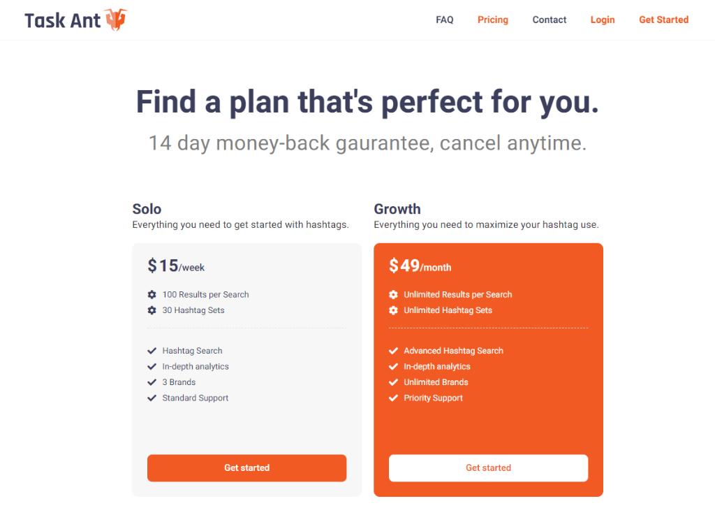 TaskAnt Pricing