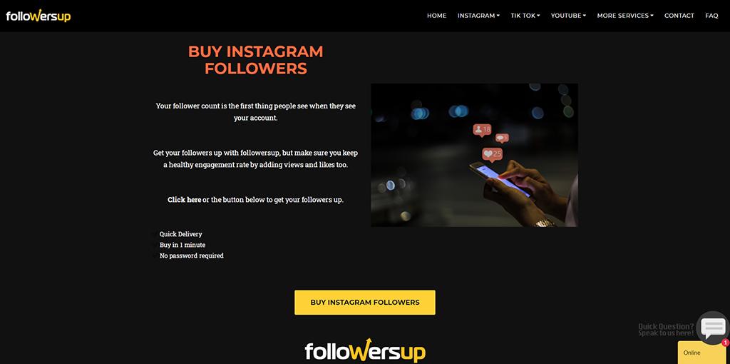 Followersup - Instagram Followers
