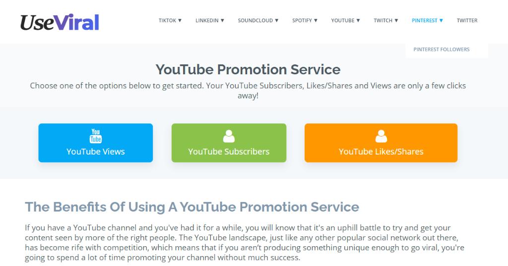 UseViral YouTube Promotion