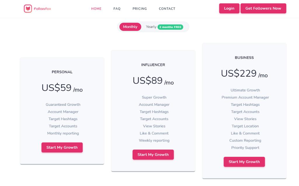FollowFox Pricing