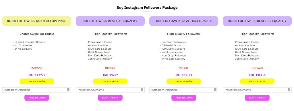 Social Bar Instagram Followers