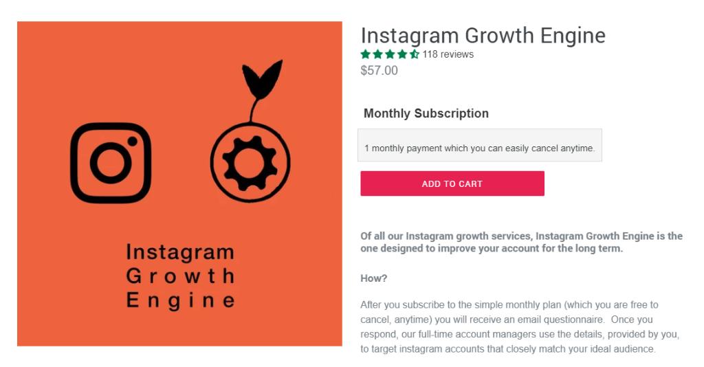 Social Growth Engine Instagram