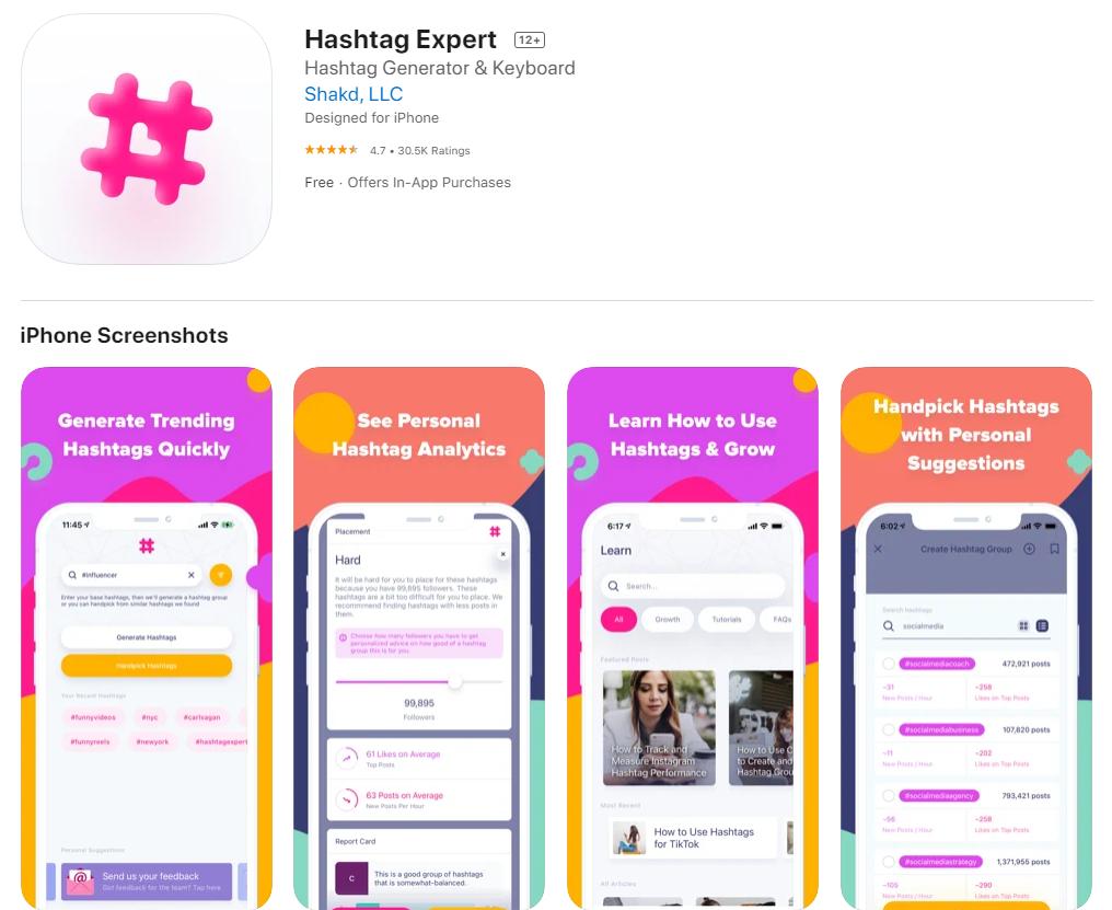 Hashtag Expert App